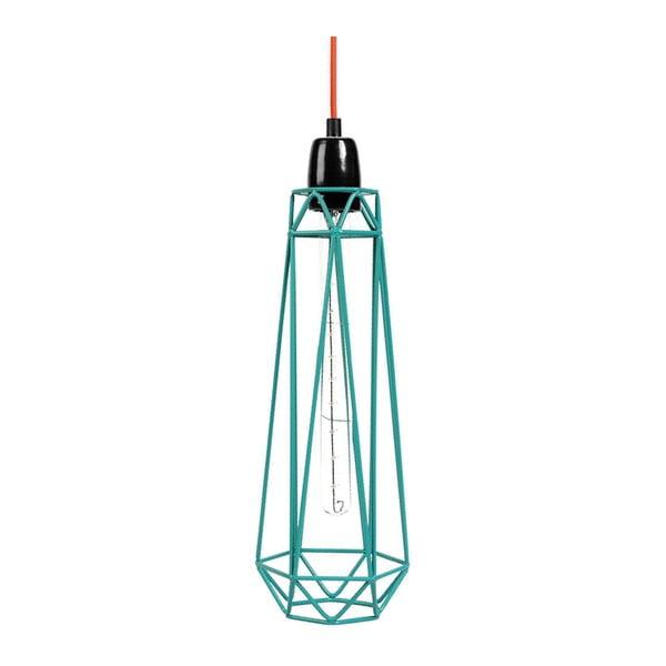 Svetlo s modrým tienidlom a oranžovým káblom Filament Style Diamond #2