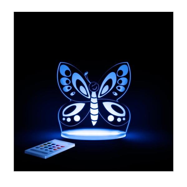 Detské LED nočné svetielko Aloka Butterfly