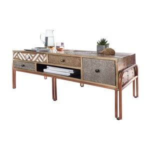 Kávový stolík so zásuvkami z mangového dreva Skyport FITTED
