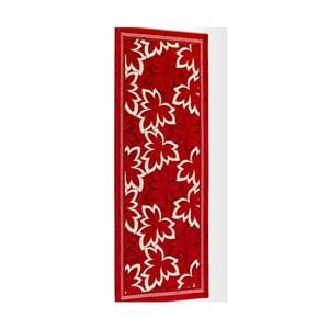 Červený vysokoodolný kuchynský behúň Webtappeti Maple Rosso, 55 x 140 cm