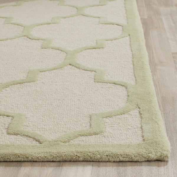 Svetlý vlnený koberec Safavieh Everly, 152 x 243 cm