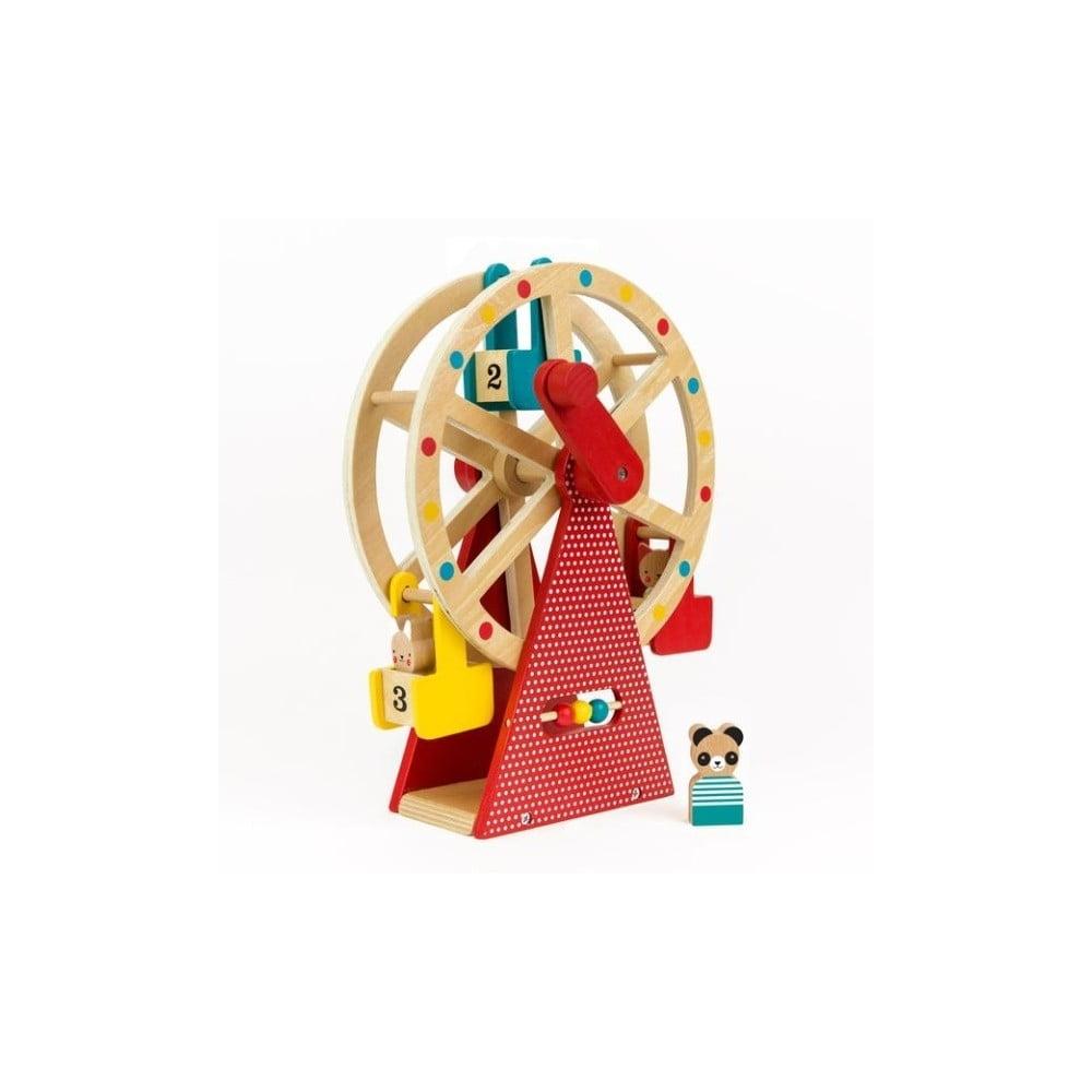 Drevené ruské koleso s 3 figúrkami Petit collage Carnival