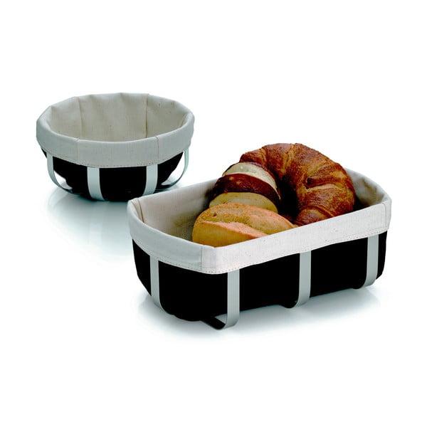 Kovový košík na chlieb Moreno, 18x8.5 cm