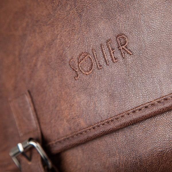 Pánska taška Solier S12, svetlohnedá