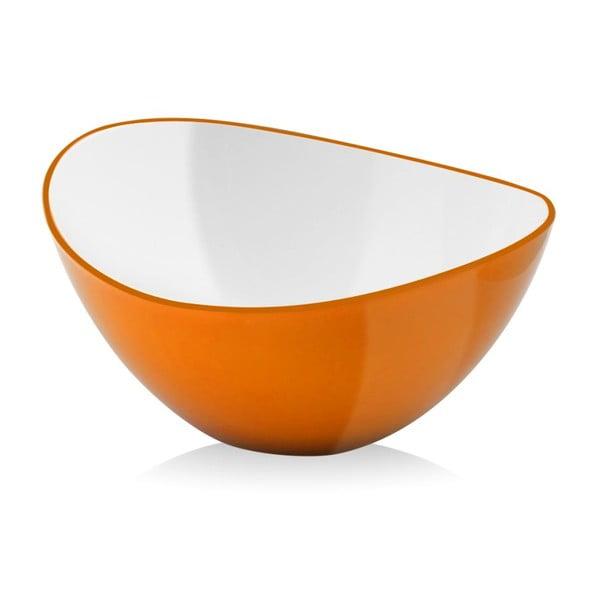 Oranžová šalátová misa Vialli Design, 25cm