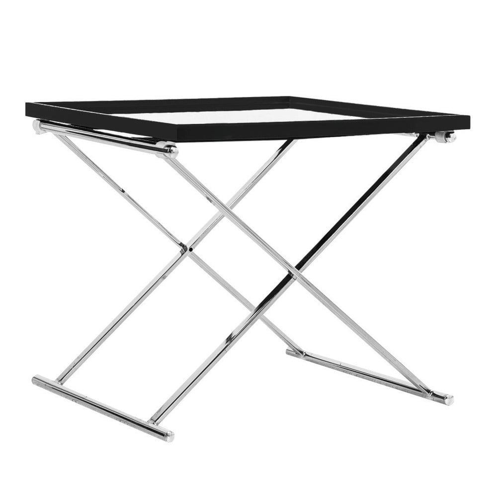 Čierny odkladací stolík Design Twist Grivita