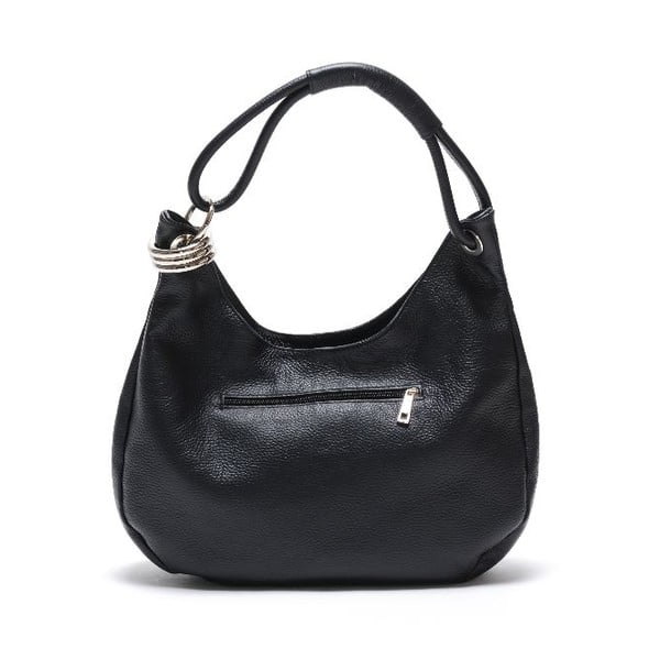 Čierna kožená kabelka Isabella Rhea no.1022