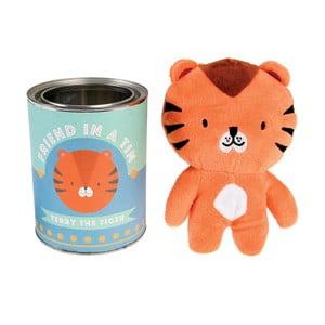 Detská plyšová hračka tigrík Terry v plechovke Rex London