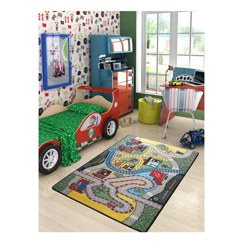 Detský koberec Race, 100 x 150 cm