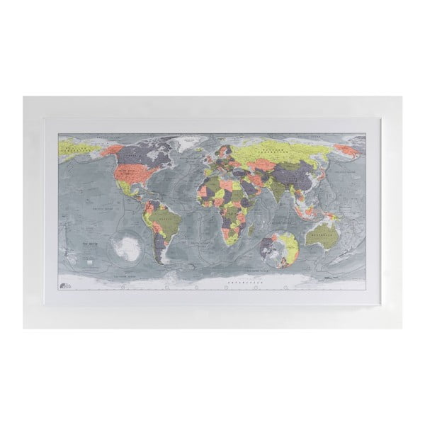Magnetická mapa sveta The Future Mapping Company Classic World Map, 130 x 72 cm