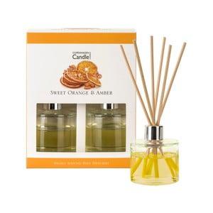 Sada 2 aromatických difuzérov Copenhagen Candles Sweet Orange & Amber, 40 ml