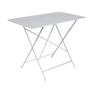 Biely záhradný stolík Fermob Bistro, 97×57 cm