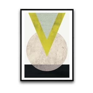Plagát v drevenom ráme Eruca, 38x28 cm