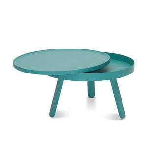 Zelený odkladací stolík s úložným priestorom Woodendot Batea M