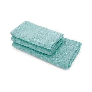 Set dvoch tyrkysových uterákov a osušky Jalouse Maison Duro Turquoise