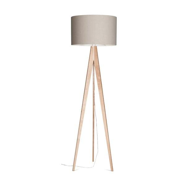 Stojacia lampa Artist Grey Linnen/Birch, 125x42 cm