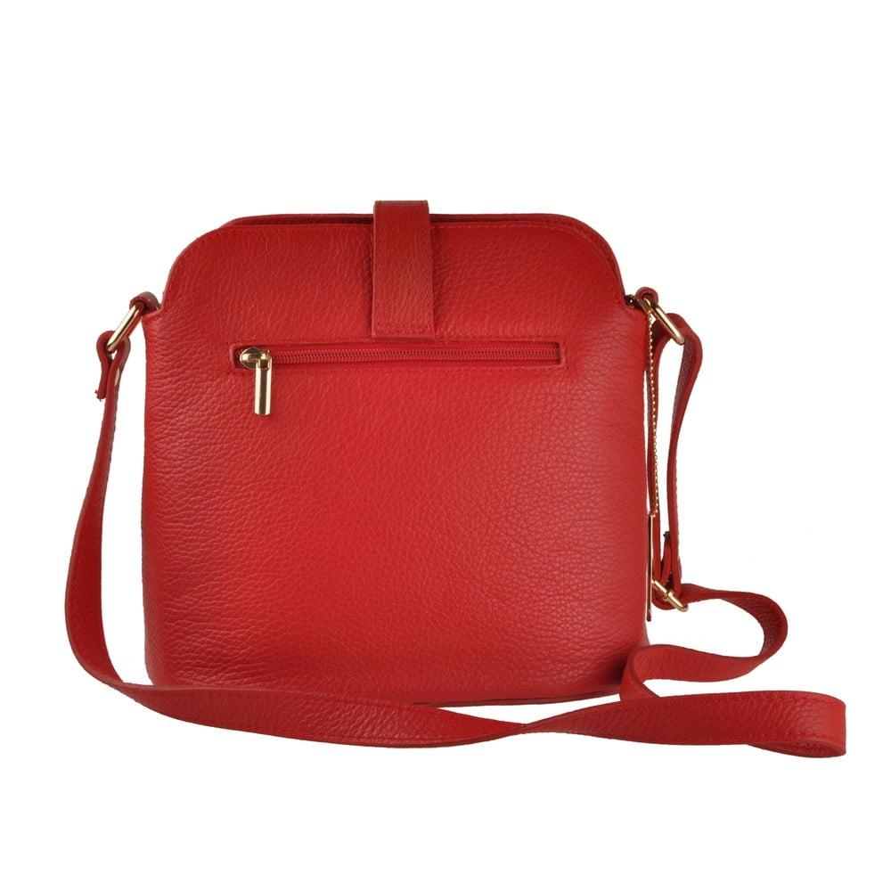 ... Červená kožená kabelka Florence Bags Larissa ... 7da29b122db