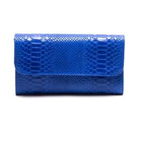 Kožená listová kabelka Isabella Rhea 8018, modrá