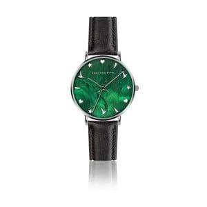 Dámske hodinky s čiernym remienkom z pravej kože Emily Westwood Grace