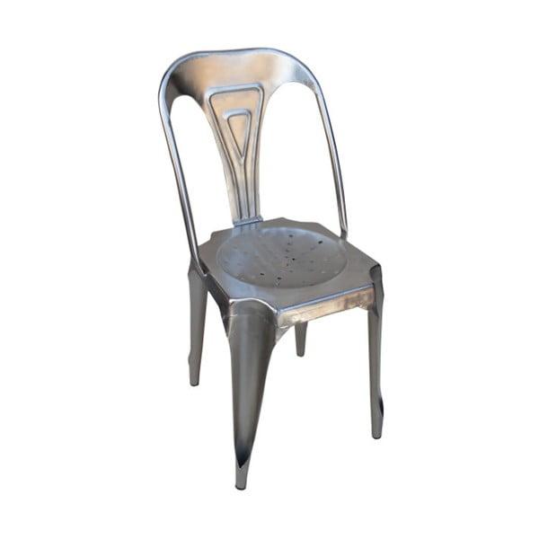 Kovová stolička Chaise, sivá