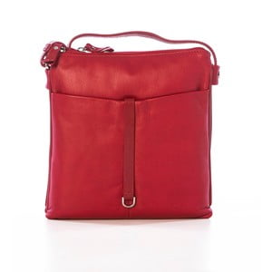 Červená kožená kabelka Gianni Conti Acca