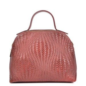 Červená kožená kabelka Isabella Rhea Gina