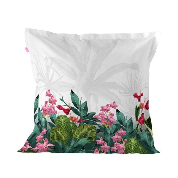 Obliečka na vankúš z čistej bavlny Happy Friday Tropic, 60 x 60 cm