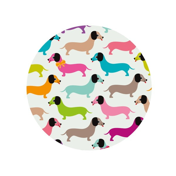 Jedálenský stôl Daschshunds In Colours, 120 cm
