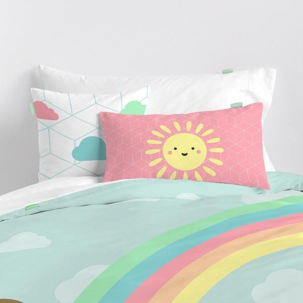 Obliečka na vankúš z čistej bavlny Happynois Rainbow, 50×30 cm