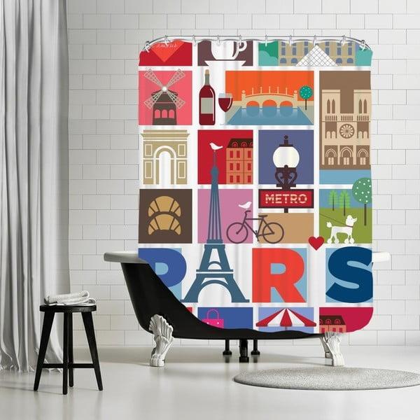 Kúpeľňový záves Paris, 180x180 cm