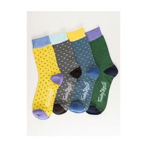 Sada 4 párov unisex ponožiek Funky Steps Ligh, veľkosť 39/45