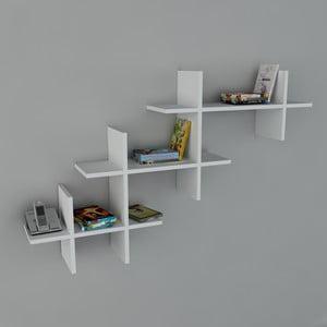 Polica Valentino Book White, 22x140x84 cm
