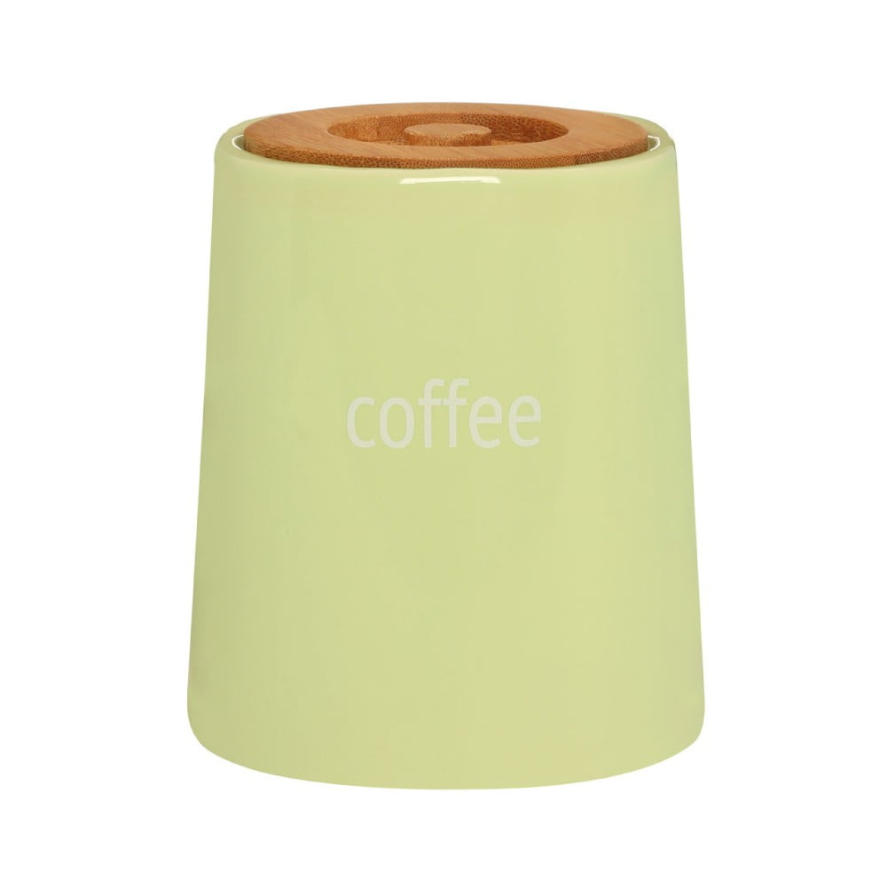 Zelená dóza na kávu s bambusovým vrchnákom Premier Housewares Fletcher, 800 ml