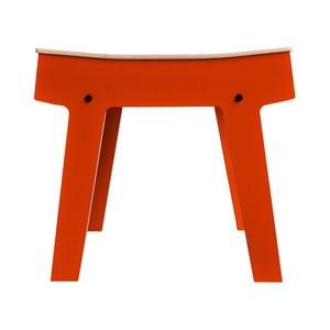 Oranžová stolička/stolík s úložným priestorom rform Pi