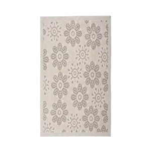 Krémový bavlnený koberec Randa, 60 × 90 cm