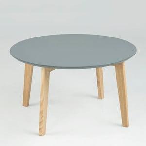 Sivý odkladací stolík Actona Molina, ⌀50cm