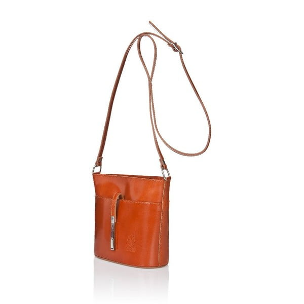 Svetlohnedá kožená kabelka Markese Calf Mini