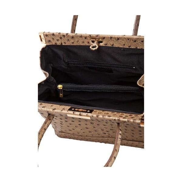 Kožená kabelka Rosalind, béžová