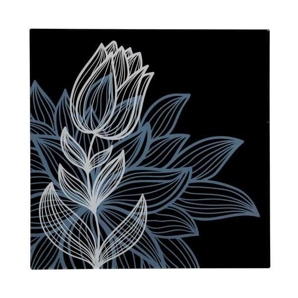 Sklenený obraz Black Tulip, 30x30 cm