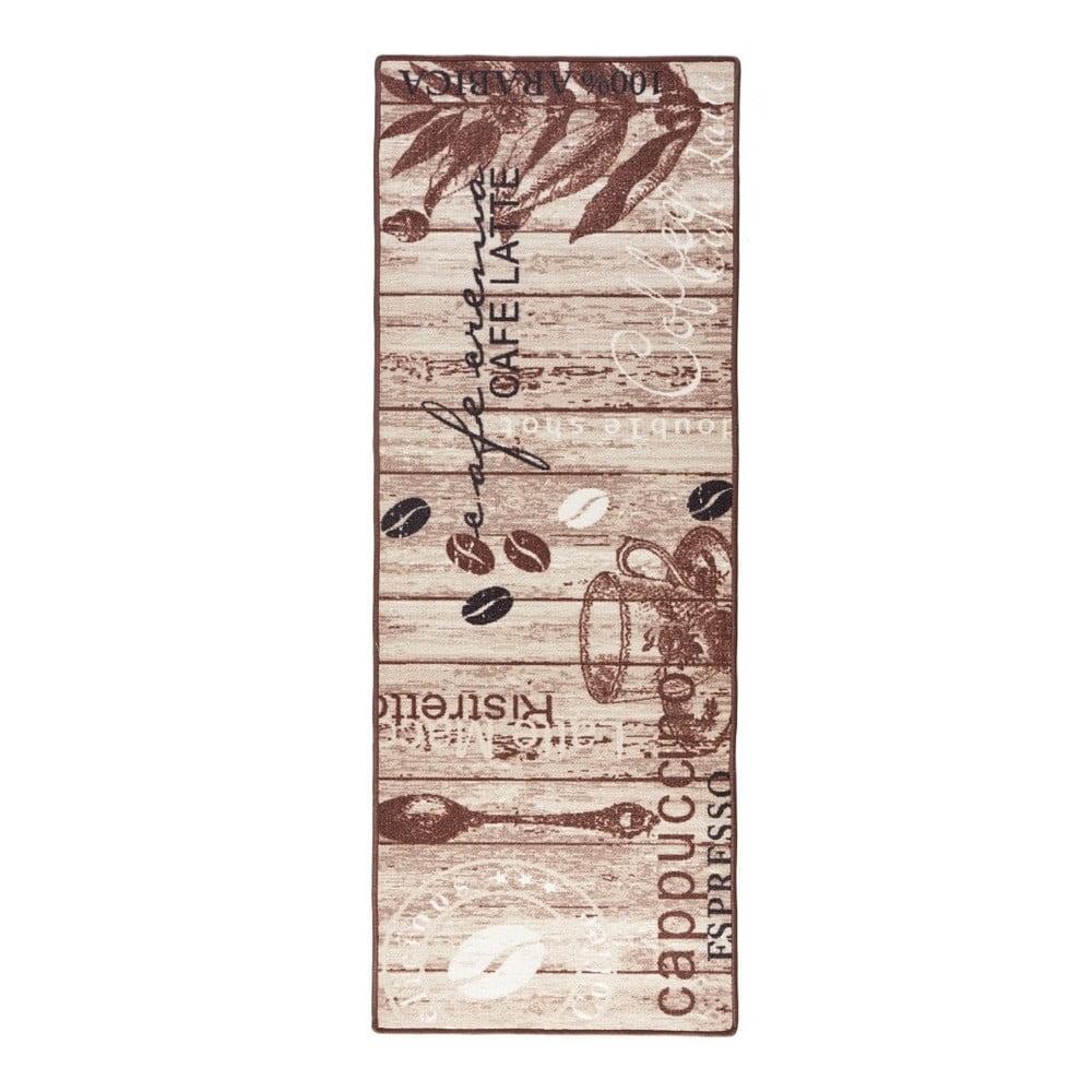 Hnedý kuchynský behúň Hanse Home Delicious Coffee, 67 × 180 cm
