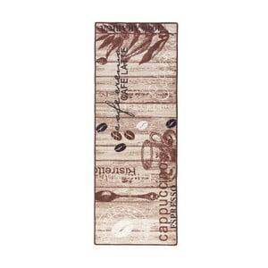 Hnedý kuchynský koberec Hanse Home Delicious Coffee, 67x180cm