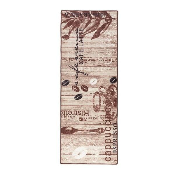 Hnedý kuchynský behúň Zala Living Delicious Coffee, 67×180cm