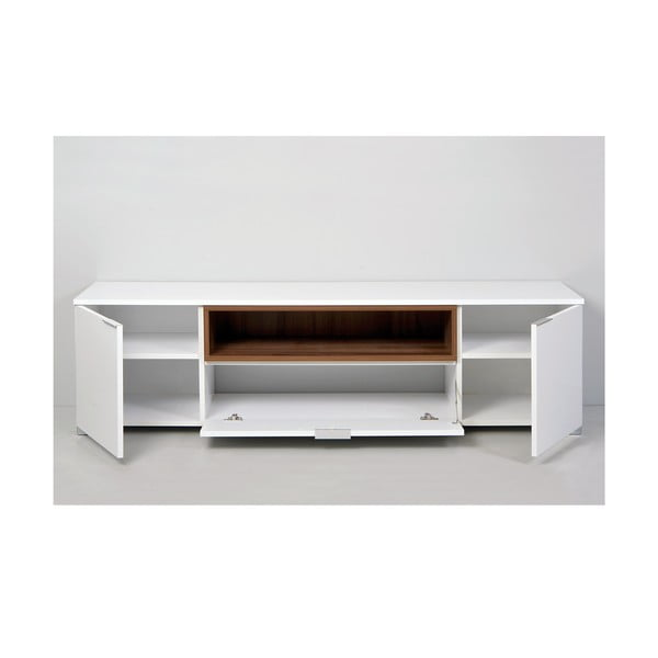 Televízny stolík Grand, biely/orech