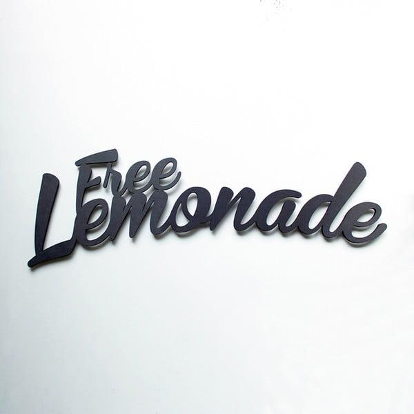 Nástenná drevená dekorácia  Free Lemonade