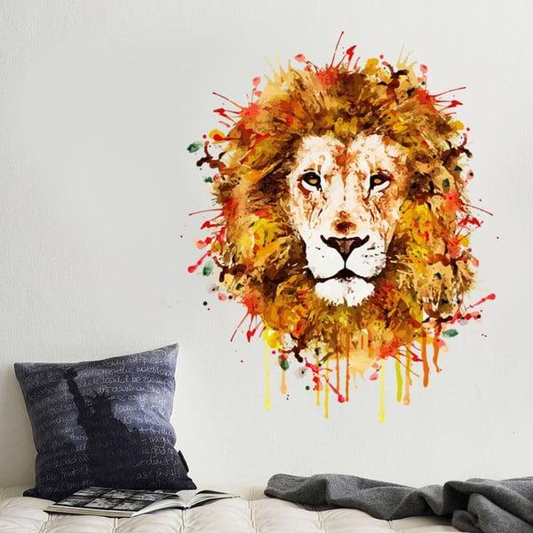 Samolepka na stenu Maľovaný lev, 70x50 cm