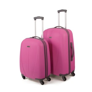 Sada 2 kufrov Tempo, ružová
