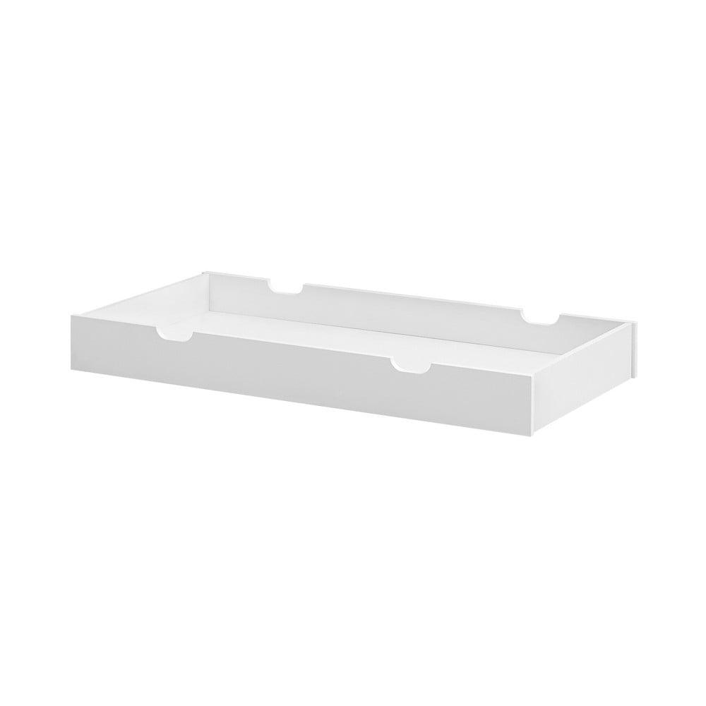 Biela zásuvka pod postieľku Pinio Moon, 60 × 120 cm