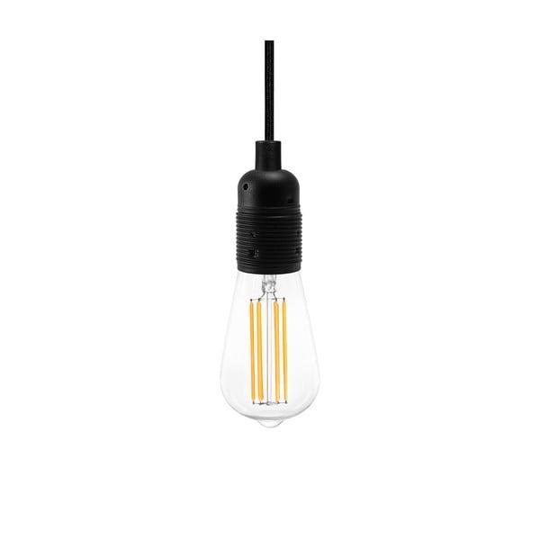 Čierne závesné svietidlo s 3 žiarovkami Bulb Attack Uno Basic Marine