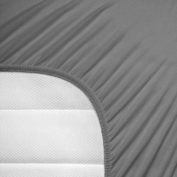 Elastické prestieradlo Hoeslaken 140x200 cm, sivé