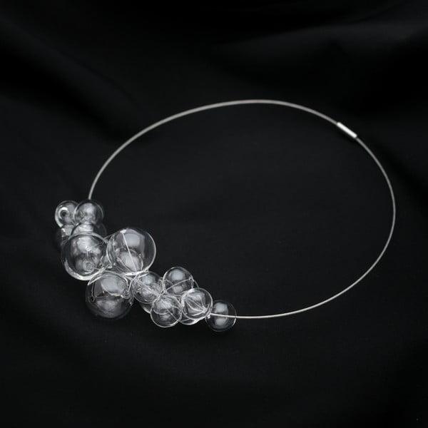 Sklenený náhrdelník ko–ra–leCrystal Foam